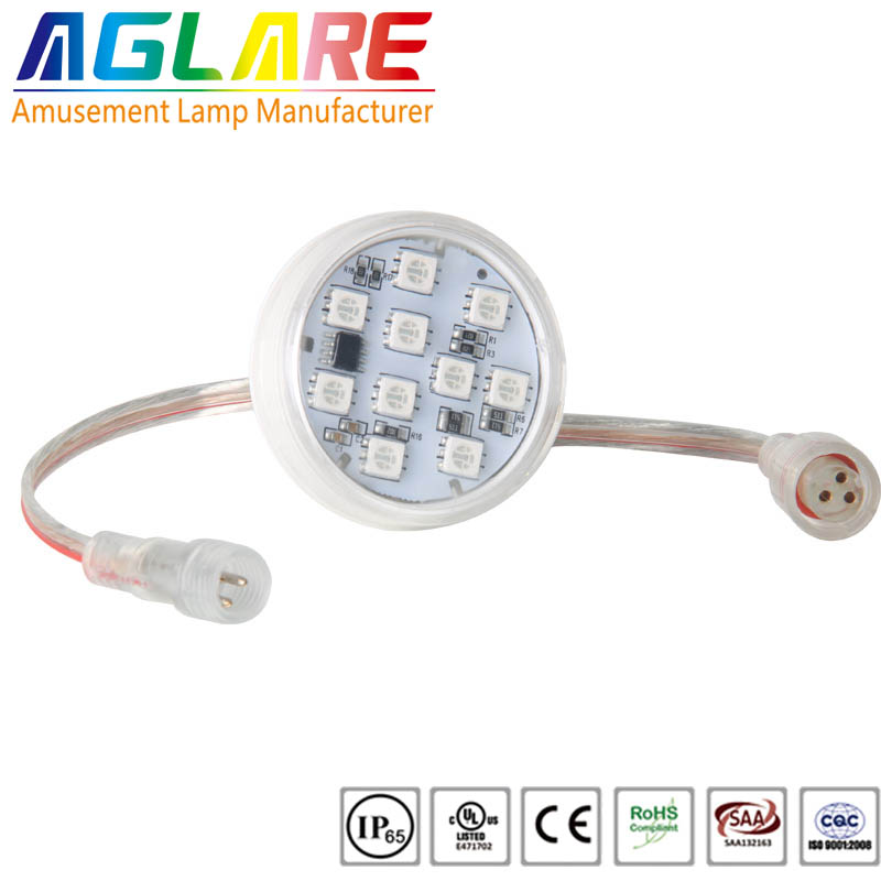 45mm 10 smd RGB LED Pixel Light for amusement park rides