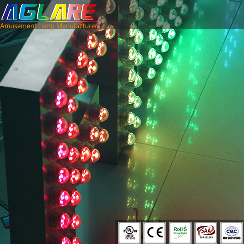 Outdoor advertising Stainless steel metal acrylic LED light