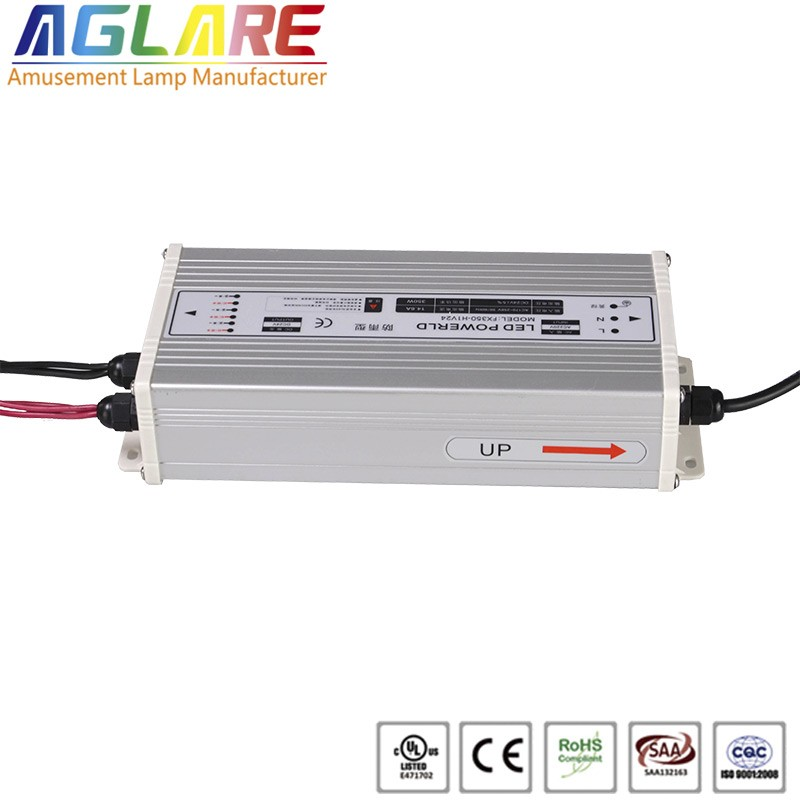 Hot sale IP44 350W AC 220v DC 24V 14.58A led switching power supply