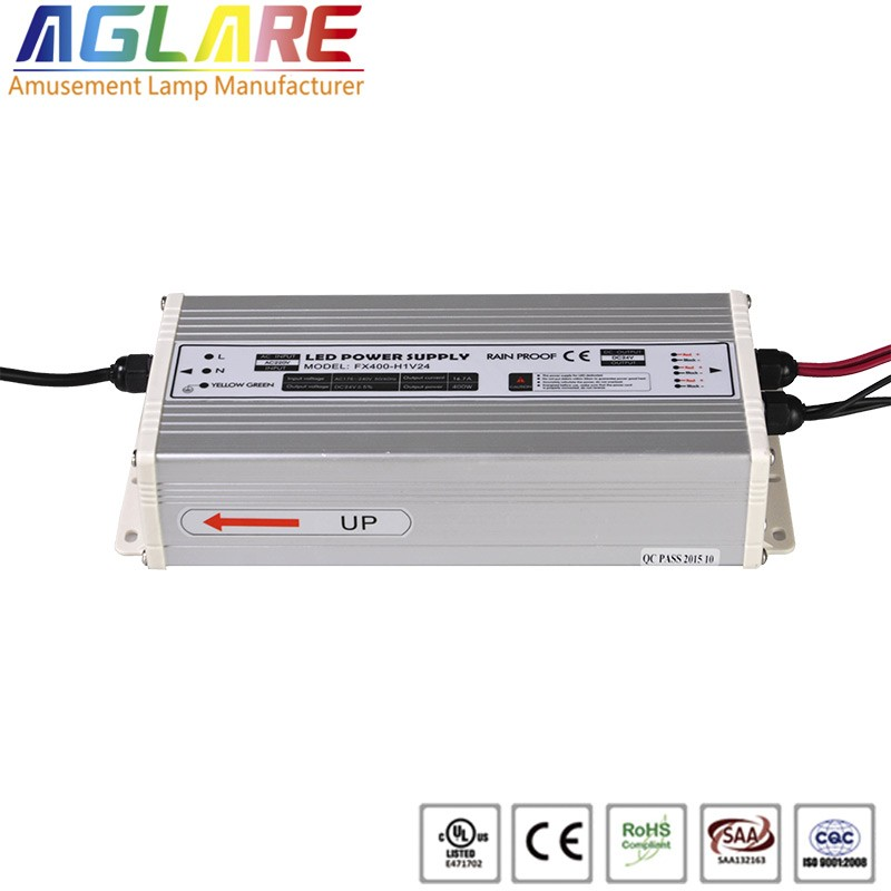 Hot sale IP44 400W AC 220v DC 24V 16.67A led switching power supply