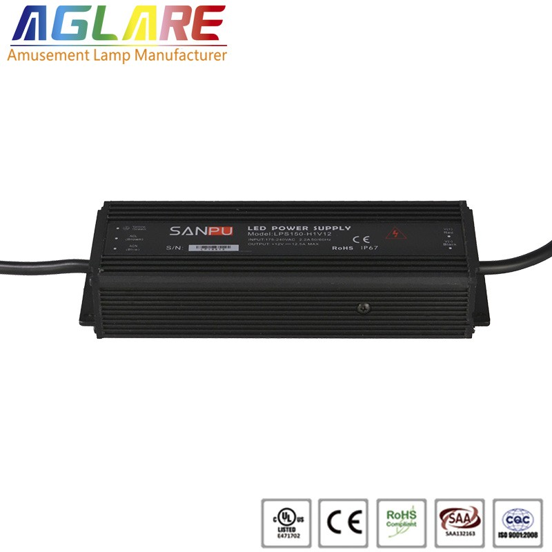 150W DC 12/24V 12.5A IP65 led switching power supply