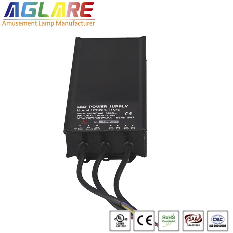 250W DC 12/24V 20.8A IP65 led switching power supply