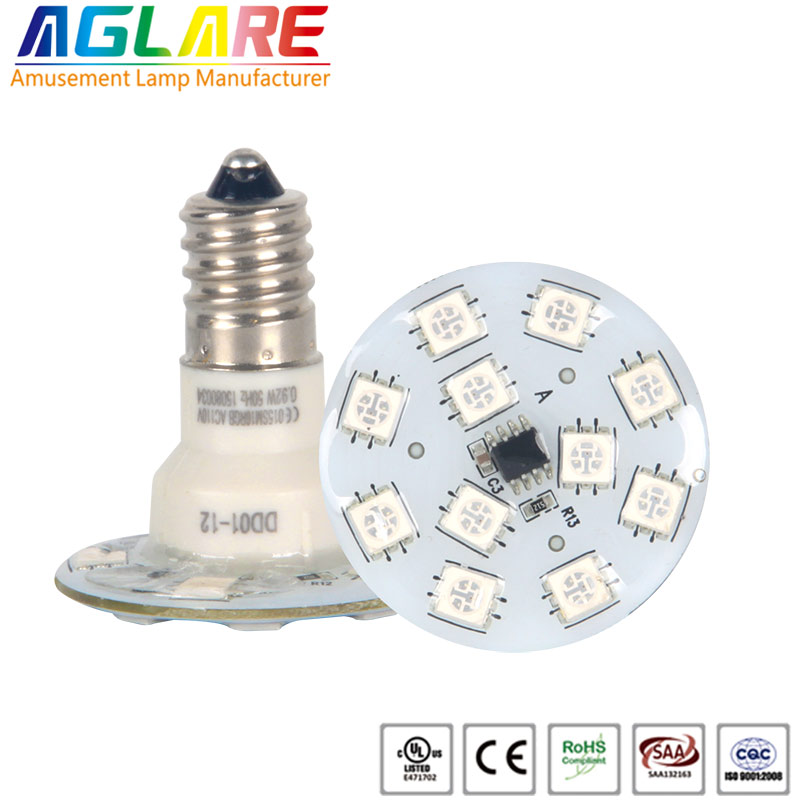 Auto RGB e14 16 SMD amusement light for fairground