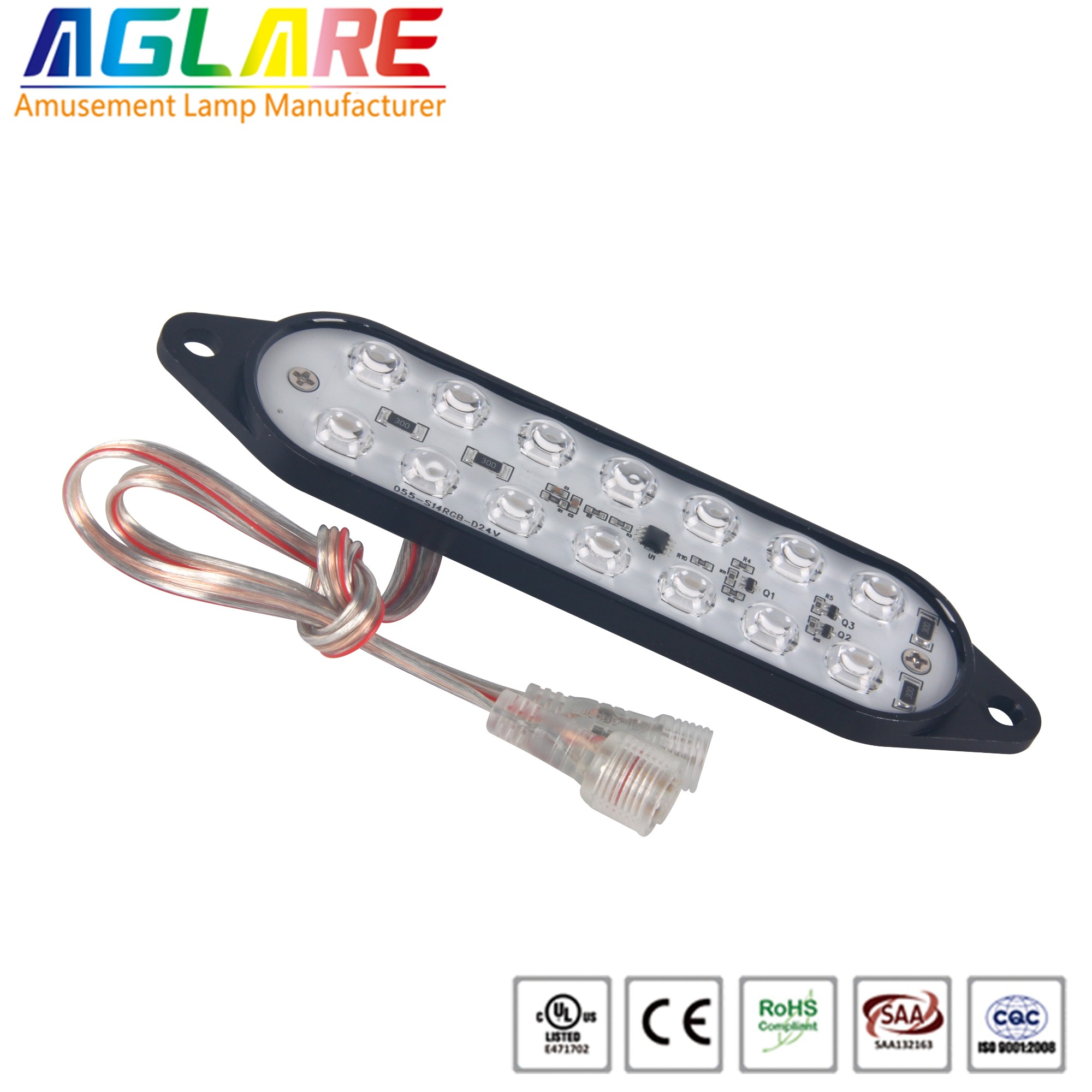 DC24V 14LEDS  Programmable rgb aluminium led amusement led lights