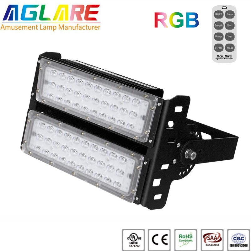 100w outdoor LED Projector RGB remote led flood lights