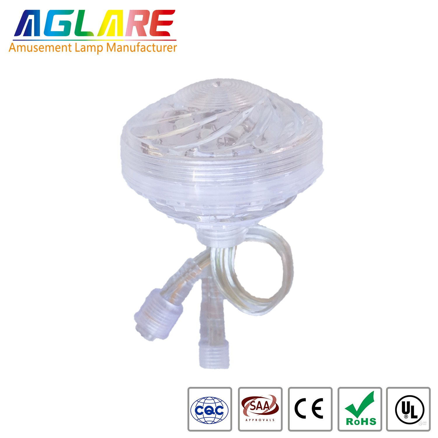 60mm Color Change RGB Amusement Led  light For Amusement Rides
