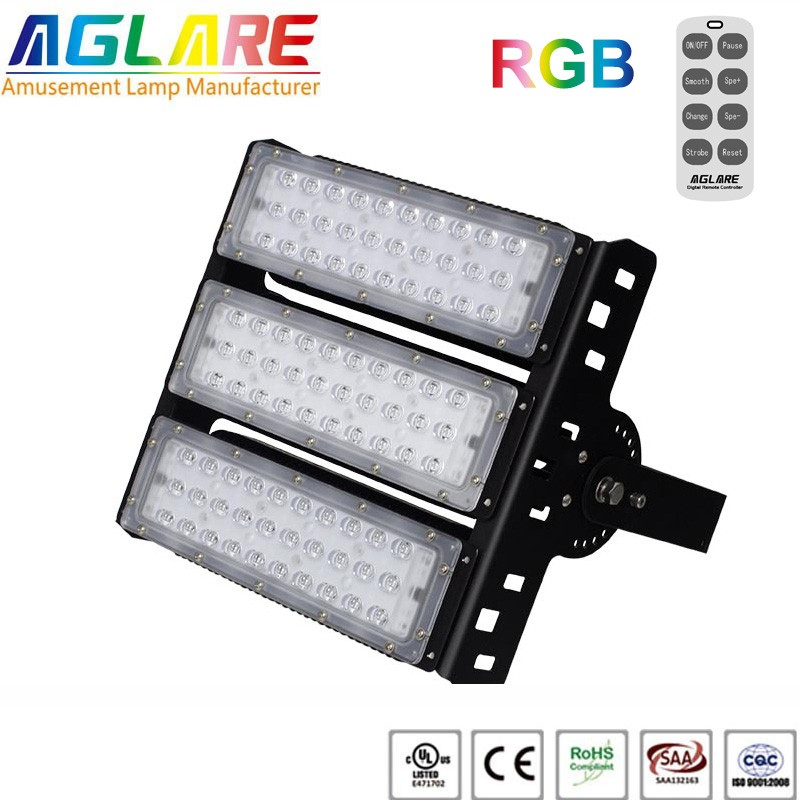 150w outdoor LED Projector RGB remote led flood lights
